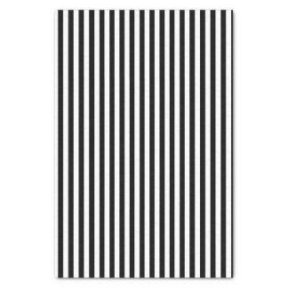 Black and White Striped Classic Tissue Paper