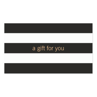 Black and White Striped Gift Card Pack Of Standard Business Cards