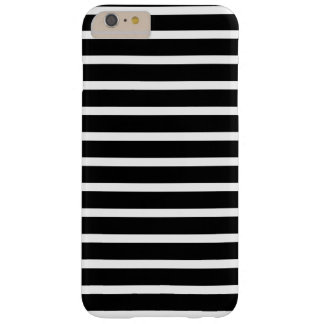Black and White Striped Pattern Design Barely There iPhone 6 Plus Case
