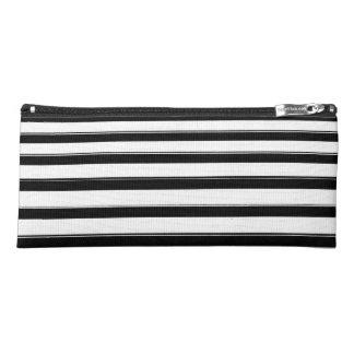 Black and White Striped Pencil Case