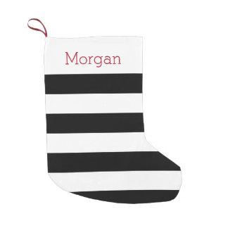 Black and White Striped Stocking