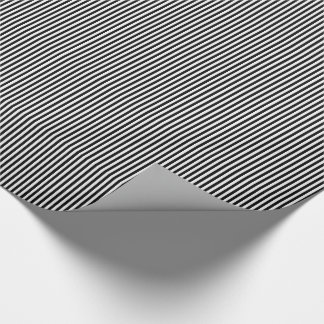 Black and White Stripes 09-Gift Wrapping Paper