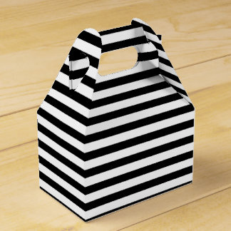 Black and White Stripes Favor Box