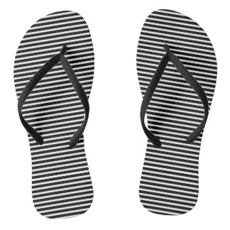 Black and White Stripes for Women Flip Flops