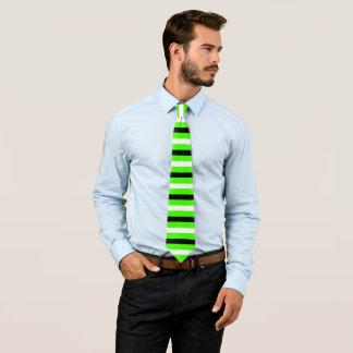 Black and White Stripes Pattern Modern Harlequin Tie