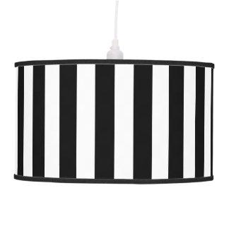 Black and White Stripes Pendant Lamp Shade
