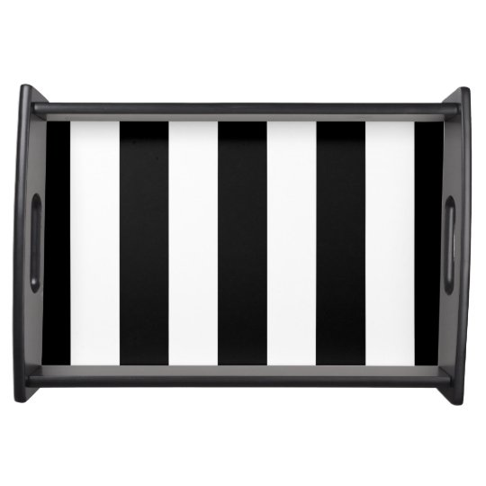 Black and White Stripes - Serving Tray