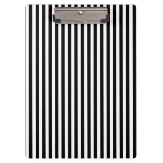 Black and White Stripes; Striped Clipboard