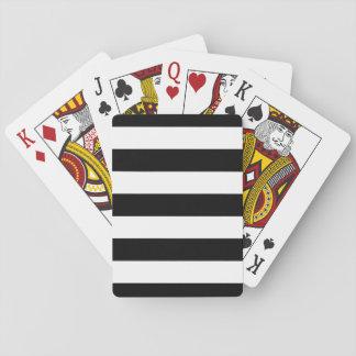 Black And White Stripes Stylish Poker Deck