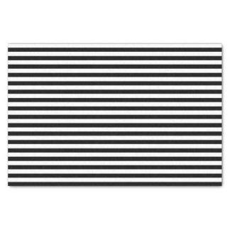 Black and White Stripes Tissue Paper