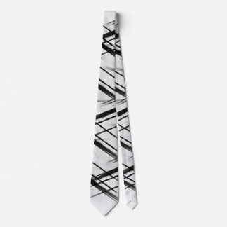 Black and White Stripped Tie