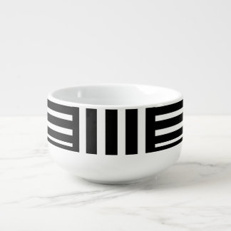 Black and White Strips/Abstract Soup Mug