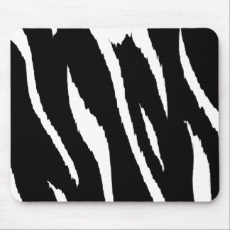 Black and White Strips Mouse Pad