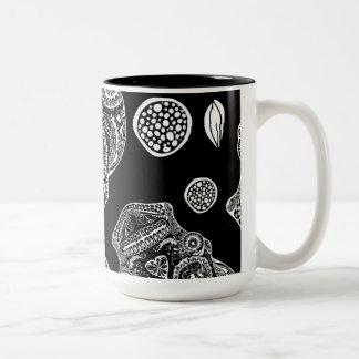 Black and White Sugar Skull Mugs