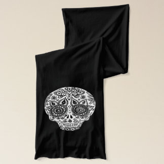 Black and White Sugar Skulls Scarf - Groovy!
