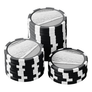 Black and White Summer beach Set Of Poker Chips