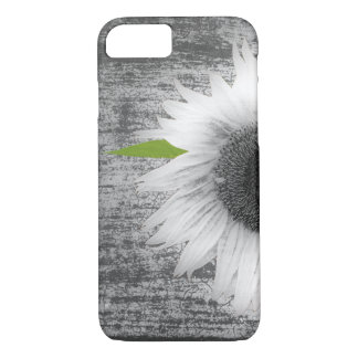 Black and White Sunflower iPhone 7 Case