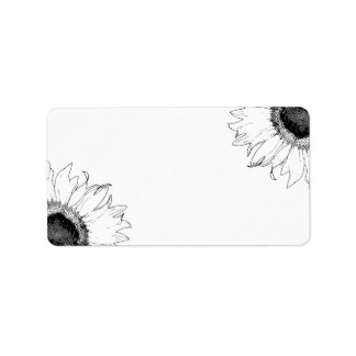 Black and White Sunflowers