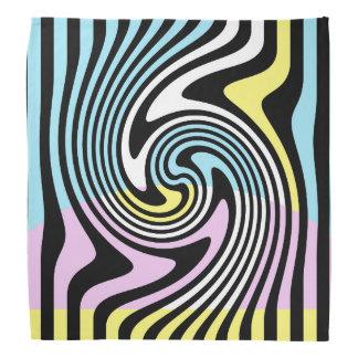 black and white swirl bandana