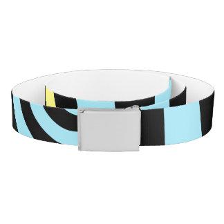 black and white swirl belt