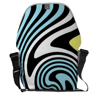 black and white swirl commuter bag