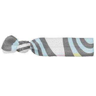 black and white swirl hair tie