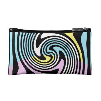 black and white swirl makeup bag