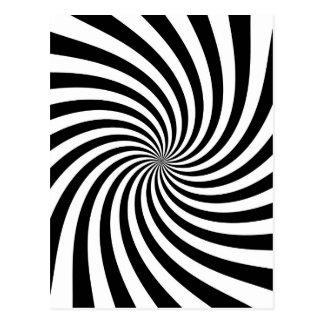Black and White Swirl Postcard