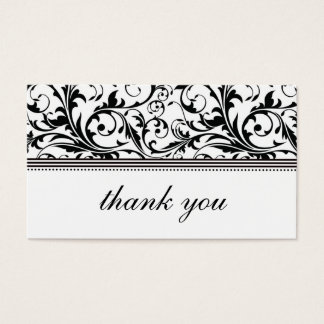 Black and White Swirl Thank You Card