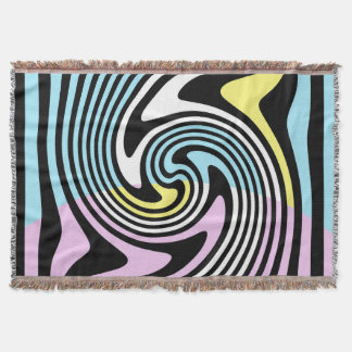 black and white swirl throw blanket