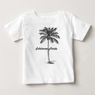 Black and White Tallahassee & Palm design Baby T-Shirt
