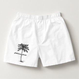 Black and White Tallahassee & Palm design Boxers