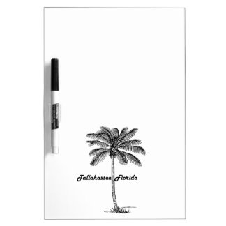 Black and White Tallahassee & Palm design Dry Erase Board