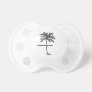 Black and White Tallahassee & Palm design Pacifier