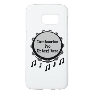 Black and White Tambourine Samsung Galaxy S7 Case