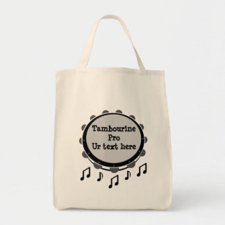 Black and White Tambourine Tote Bag