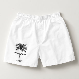 Black and White Tampa & Palm design Boxers