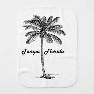 Black and White Tampa & Palm design Burp Cloths