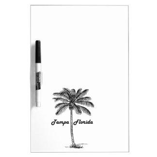 Black and White Tampa & Palm design Dry Erase Board