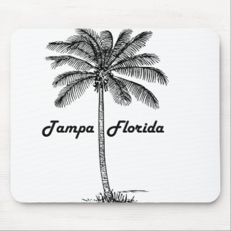 Black and White Tampa & Palm design Mouse Pad