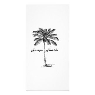 Black and White Tampa & Palm design Personalized Photo Card