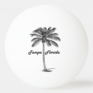 Black and White Tampa & Palm design Ping Pong Ball
