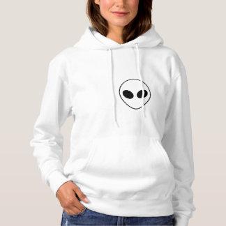 Black and White Teen Alien Sweatshirt. Hoodie