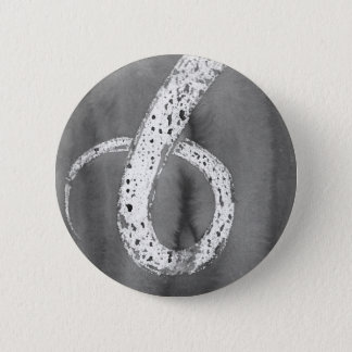 Black and White Tentacle 2 Inch Round Button