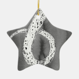 Black and White Tentacle Ceramic Ornament