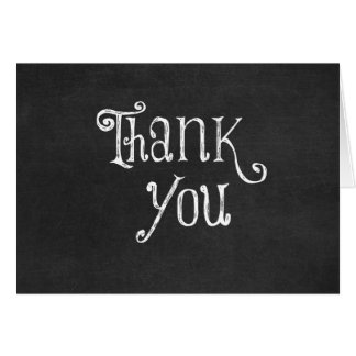 Black and White Thank You Greeting Card