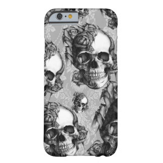 Black and white thinking, multi skull pattern. barely there iPhone 6 case