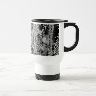 Black and White Thorns Macro Image Travel Mug