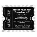 Black and White Ticket Flyers, Custom Printing