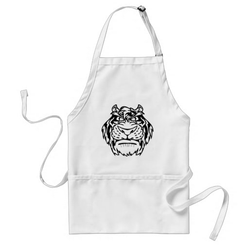 Black and white tiger aprons